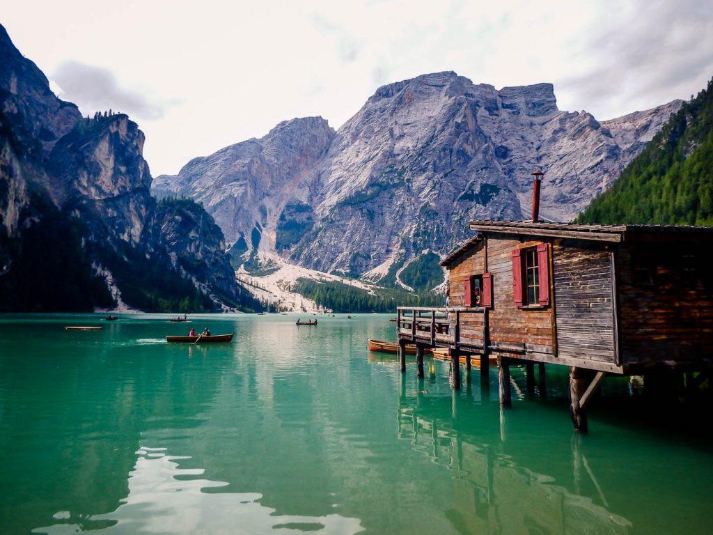 Lago di Braies, Croda del Becco