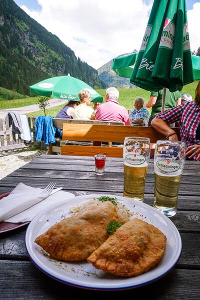 Mittagessen in der Sondlalm, Untertal, Rohrmoos Schladming