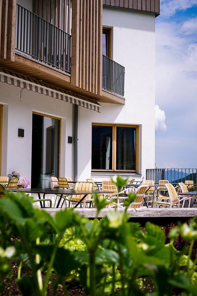 Thalers Mariandl Hotel in Rohrmoos Außenterrasse