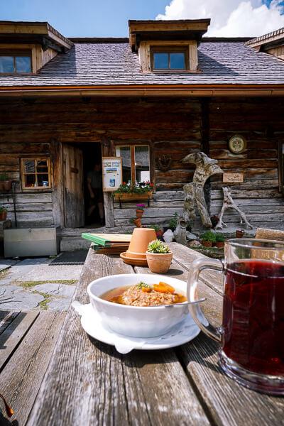 Lunch at Ursprungalm, Schladming, Austria
