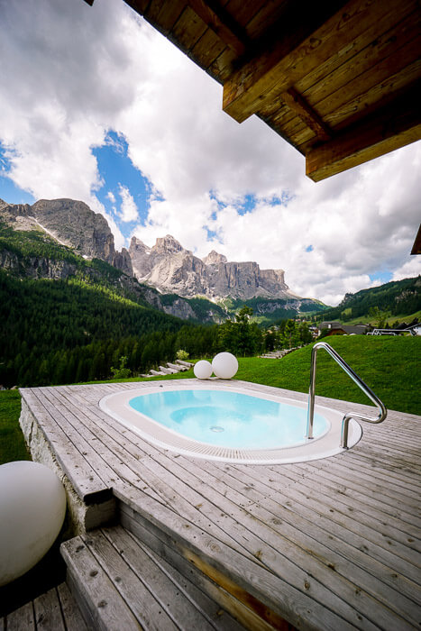 Whirlpool, Lüch de Costa Aparthotel in Colfosco, Dolomites