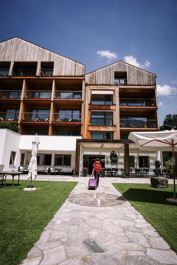 Hotel Tyrol Entrance, Santa Maddalena, Val di Funes