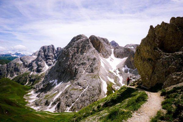 Tierer Alpl to Forcella Denti di Terrarossa/Rosszahn Scharte, Dolomites