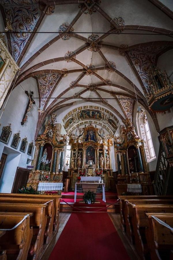 Santa Maddalena Church Interior, Val di Funes, Dolomites