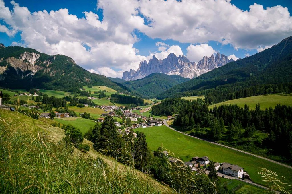 Sunny side trail, Santa Maddalena, Val di Funes, Dolomites