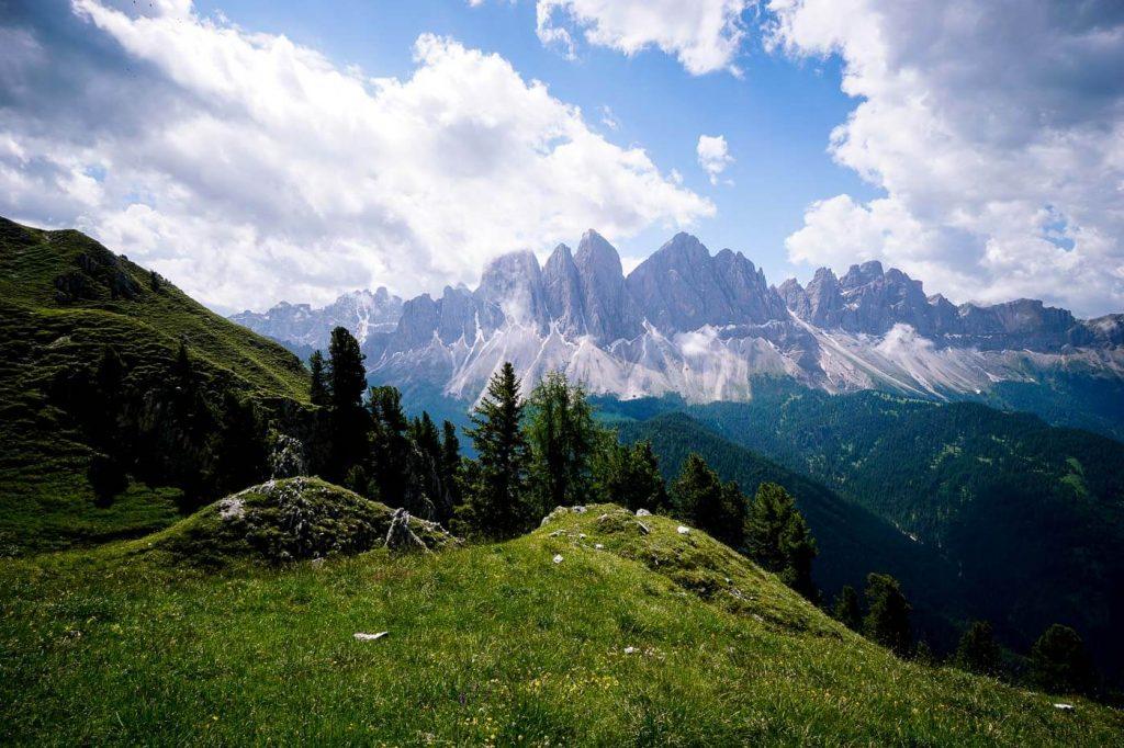Oberer Herrensteig Trail Views of Odle Group, Dolomites