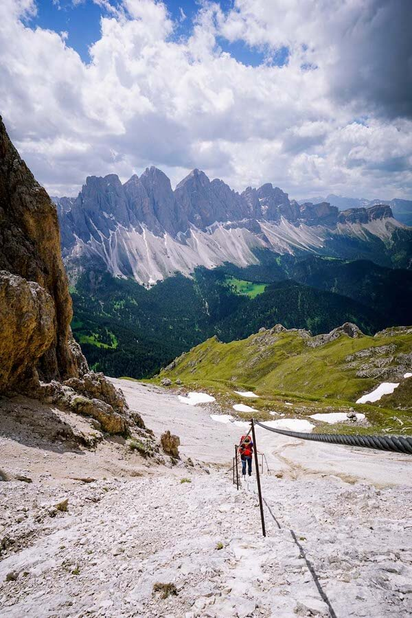 Tullen secured passage, Dolomites