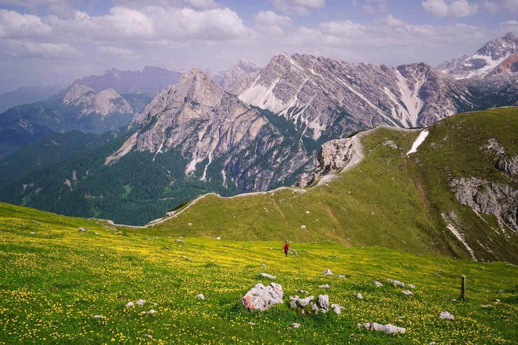 Trail 61, Hiking to Pragser Furkel, Dolomites