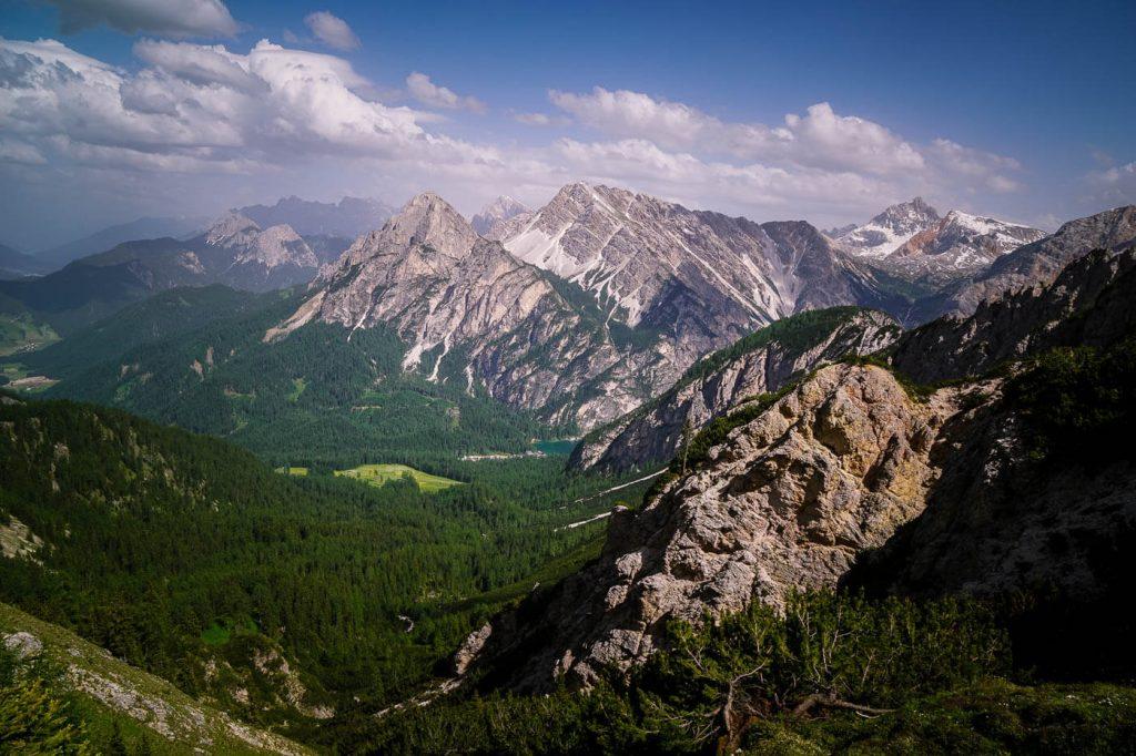 Lago di Braies view from Pragser Furkel, Prags Dolomites