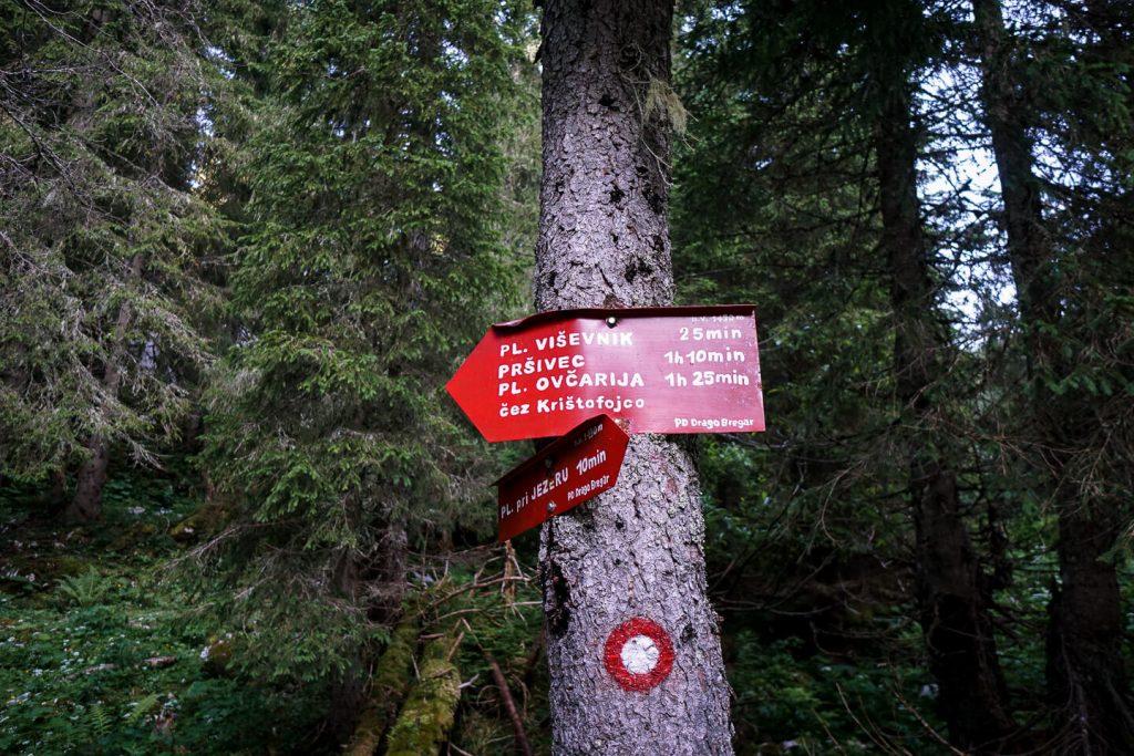 Slovenia Trail Sign
