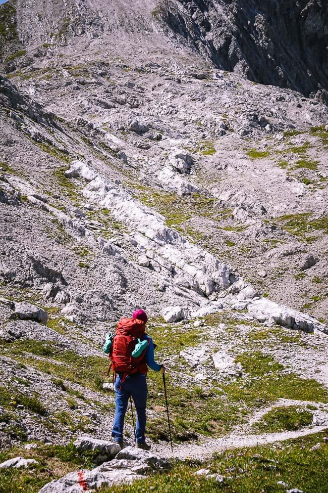 Butzensattel to Butzenspitze Ridge, Lechquellen Mountains, Austria