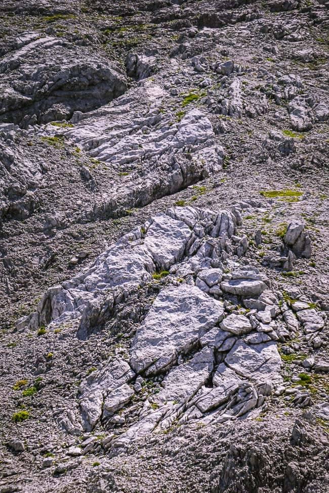 Karst Terrain, Lechquellen Mountains