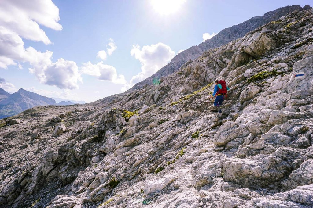 Löffelspitze slopes, Lechquellen Mountains, Austria
