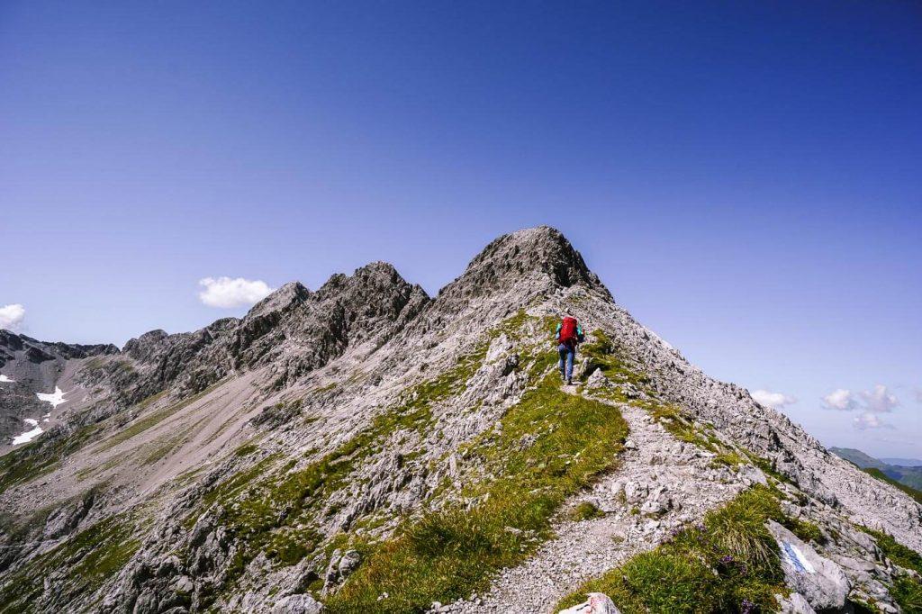 Butzenspitze Ridge, Lechquellen Mountains, Austria