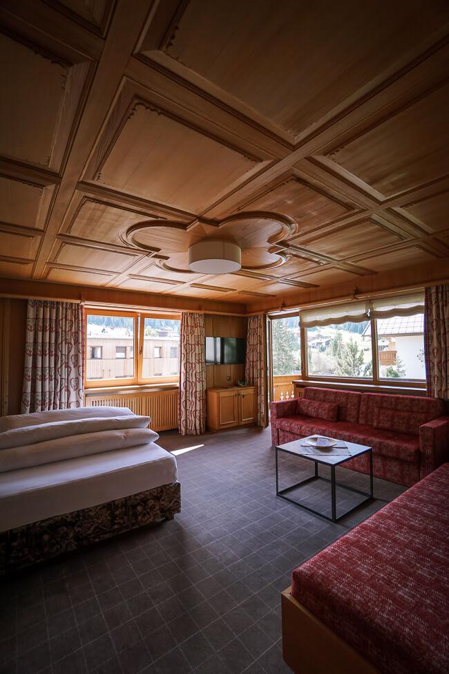 Hotel Auenhof Bedroom, Lech am Arlberg, Austria