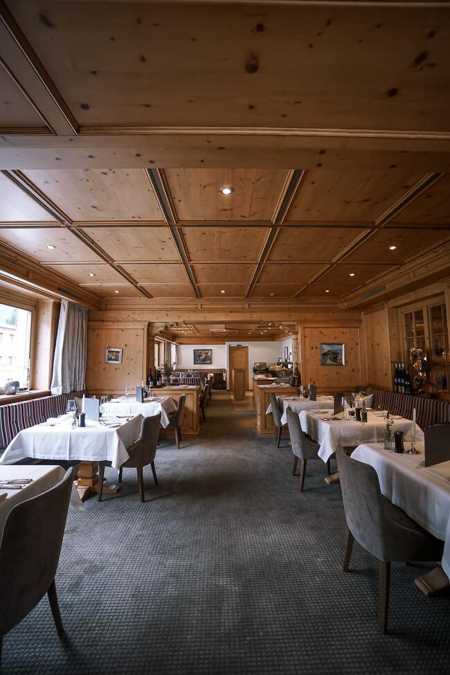Hotel Auenhof Dining Room, Lech am Arlberg, Austria