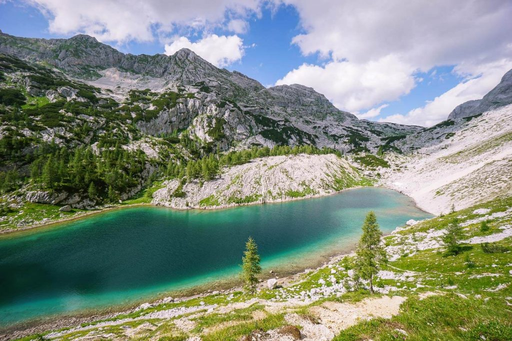 Veliko jezero (The Great Lake) or Jezero v Ledvicah (Kidney Lake), Seven Lakes Valley, Slovenia