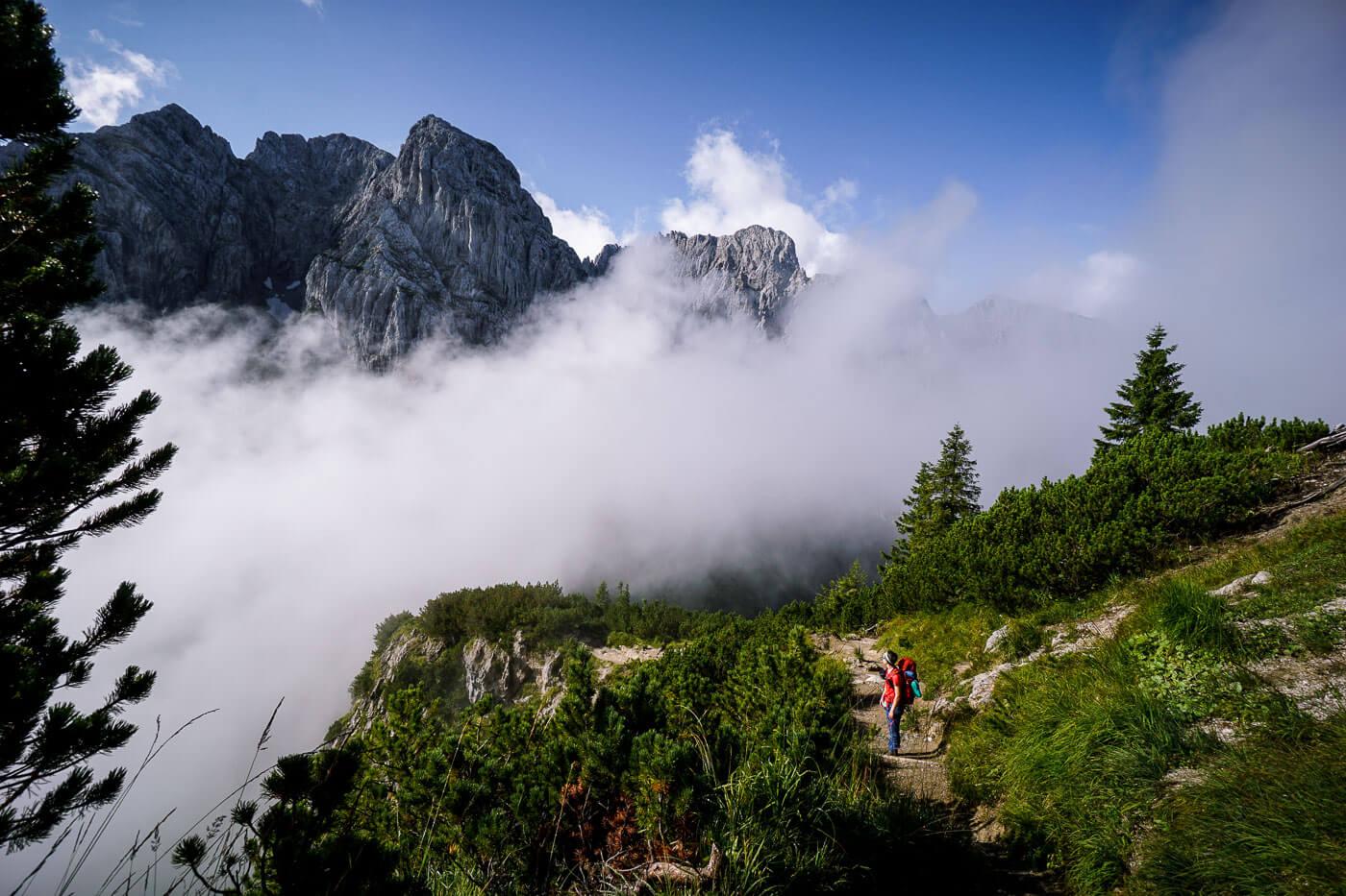 Emperor's Crown Trek (Kaiserkrone Trail) in Wilder Kaiser, Tirol, Austria