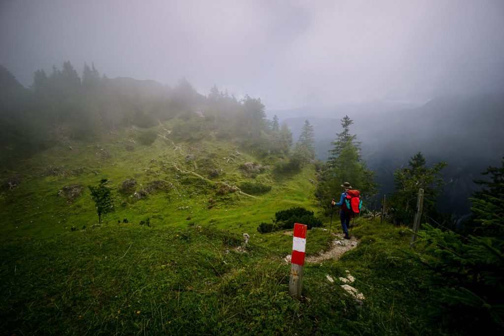 Schneebichl ascent, Kaiser Mountains, Austria