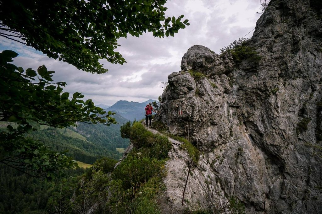 Gscheuerkopf descent, Wilder Kaiser Steig, Austria