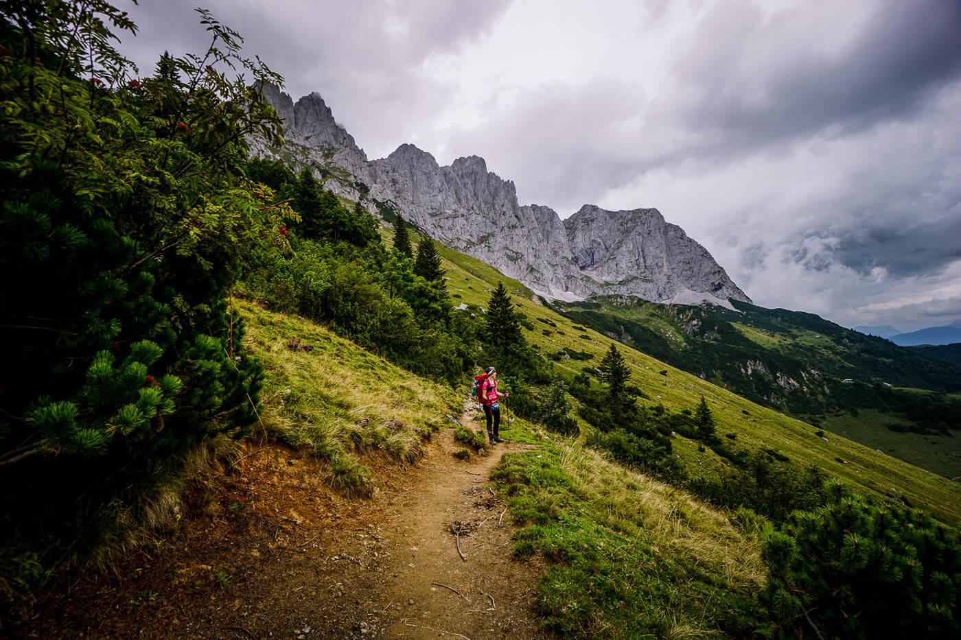 Kaiserkrone Trail, Wilder Kaiser, Austria