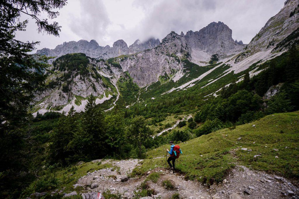 Obere Regalm to Gaudeamushütte, Emperor's Crown Trail, Wilder Kaiser, Austria