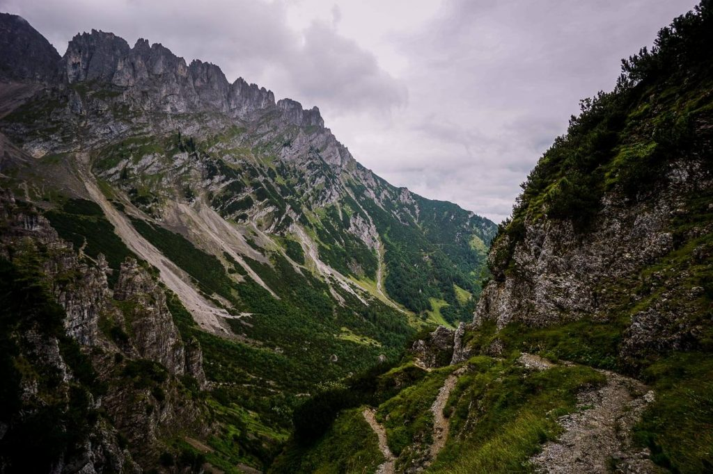 Klammlweg Trail to Gruttenhütte, Wilder Kaiser, Austria
