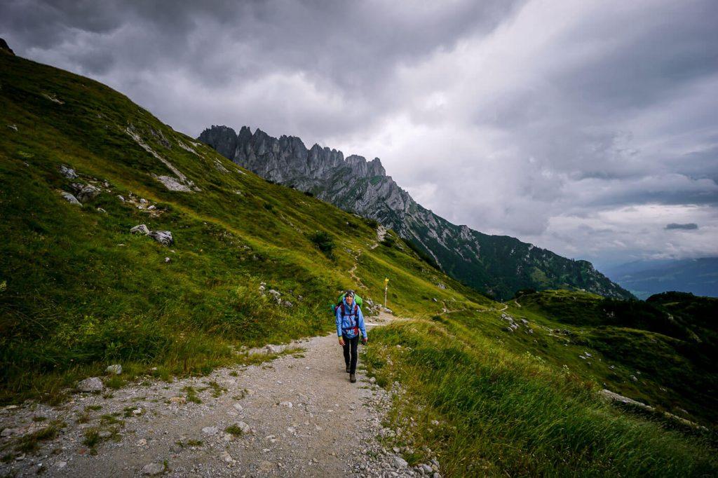 Trail to Gruttenhütte, Wilder Kaiser, Austria