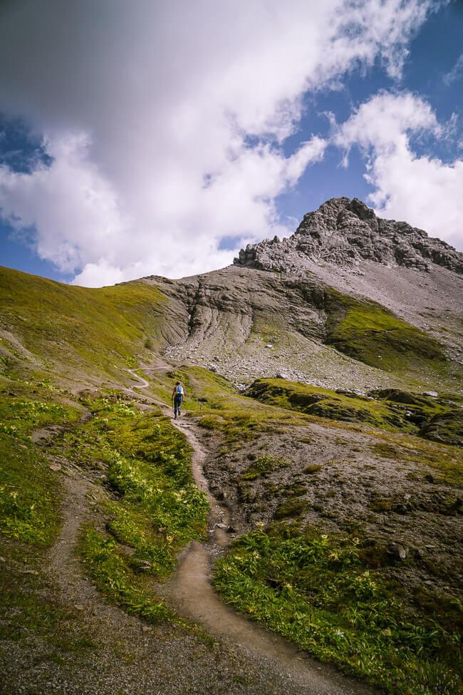 Hike to Rauhekopfscharte, Lechtal Alps, Austria