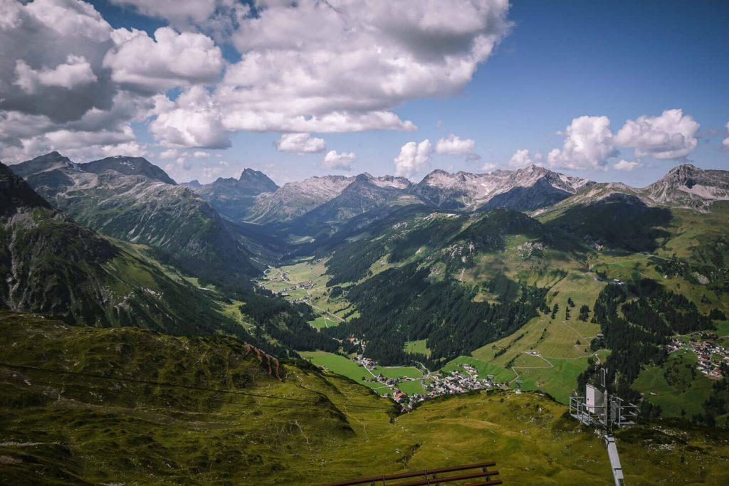 Rüfikopf Mountain Station View, Lech am Arlberg, Lechtal Alps, Austria