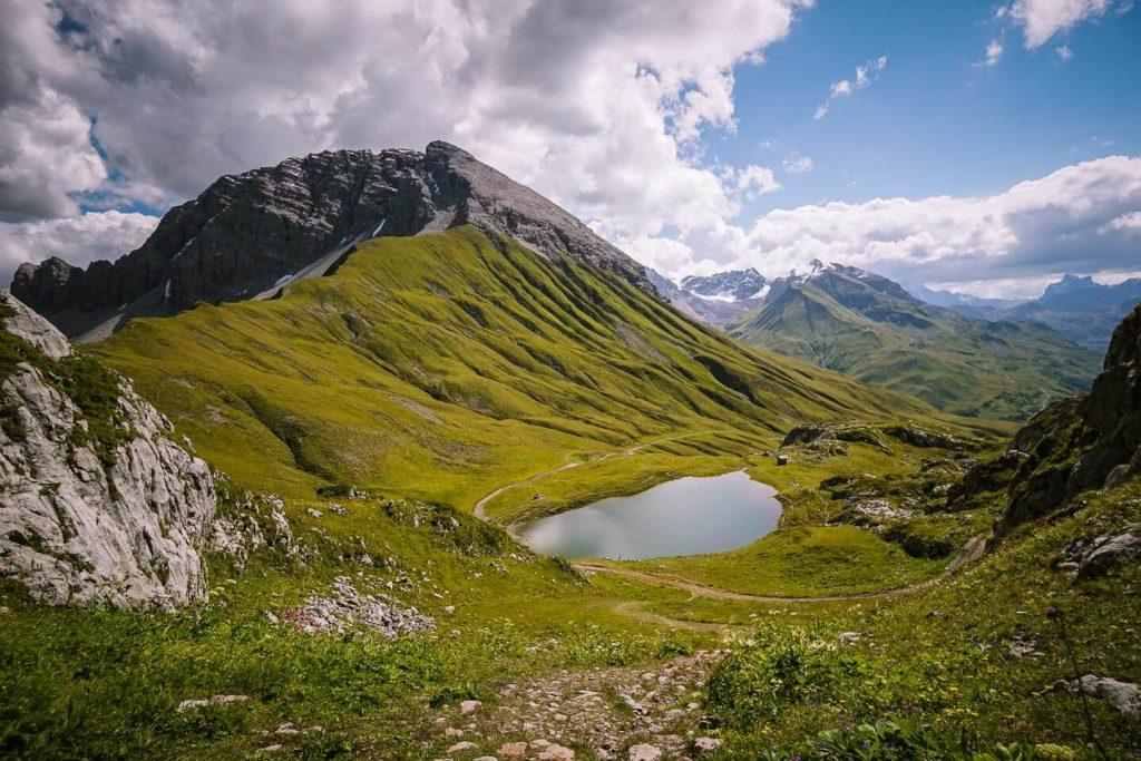 Monzabonsee lake, Lechtal Alps, Vorarlberg, Austria
