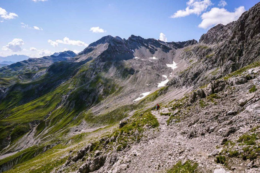 Theodor-Prassler-Weg, Lechquellen Mountains, Austria