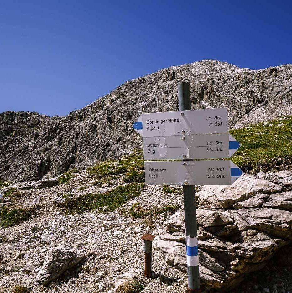 Vorarlberg Trail Sign, Austria