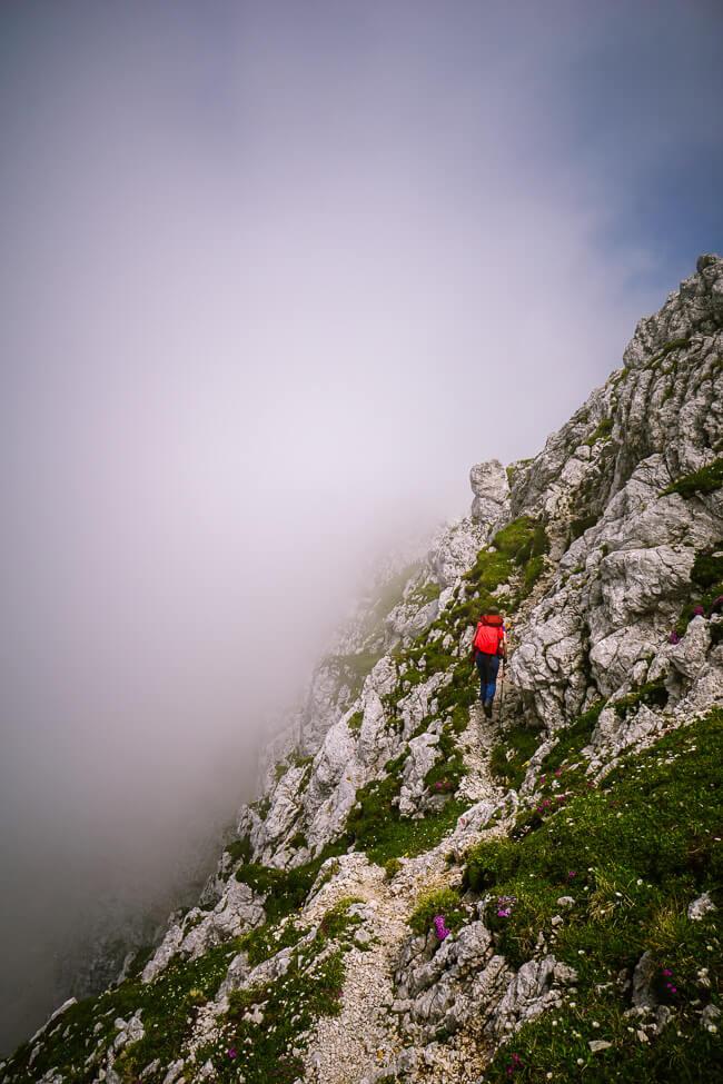 Špičje Ridge Trail, Julian Alps, Slovenia
