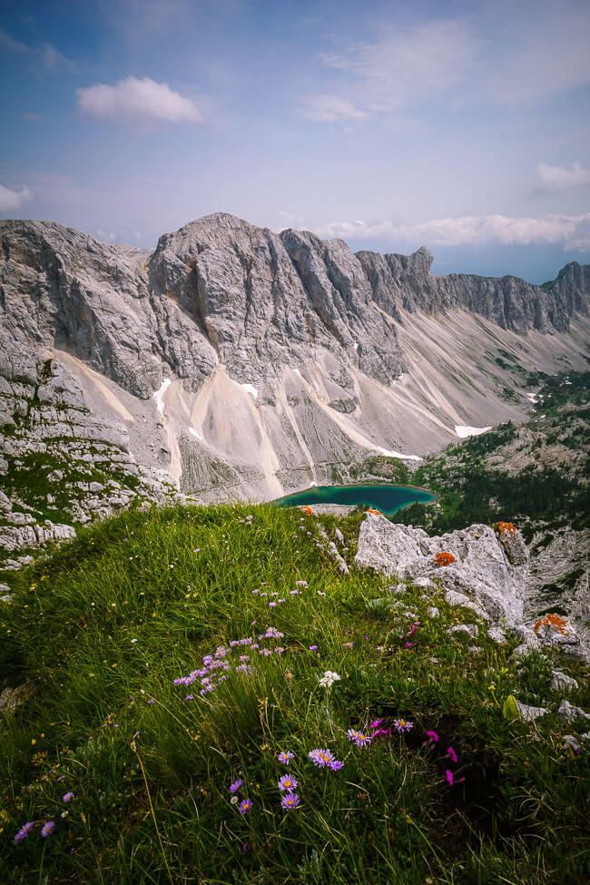 Veliko Špičje view of Seven Lakes, Julian Alps, Slovenia
