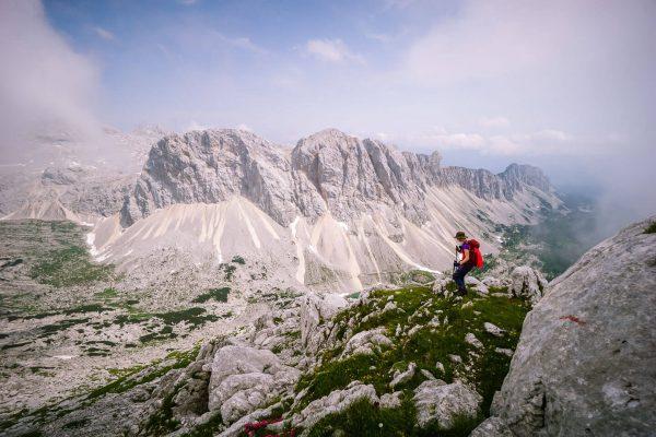 Veliko Špičje ridge trail, Julian Alps, Slovenia