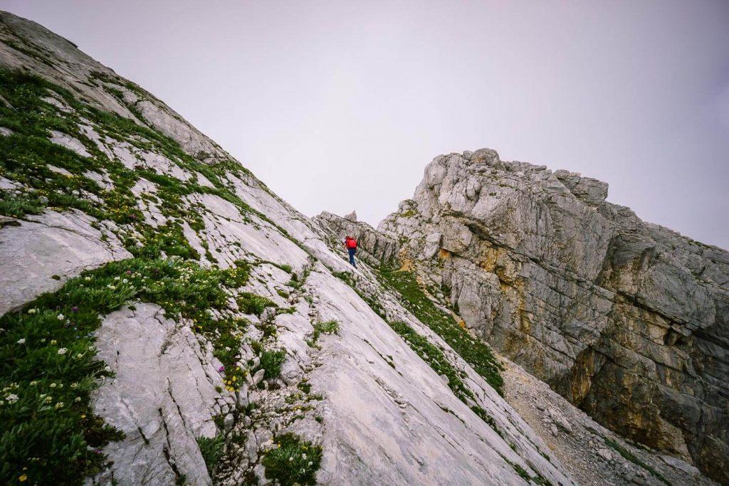 Špičje ridge, karst path, Julian Alps, Slovenia