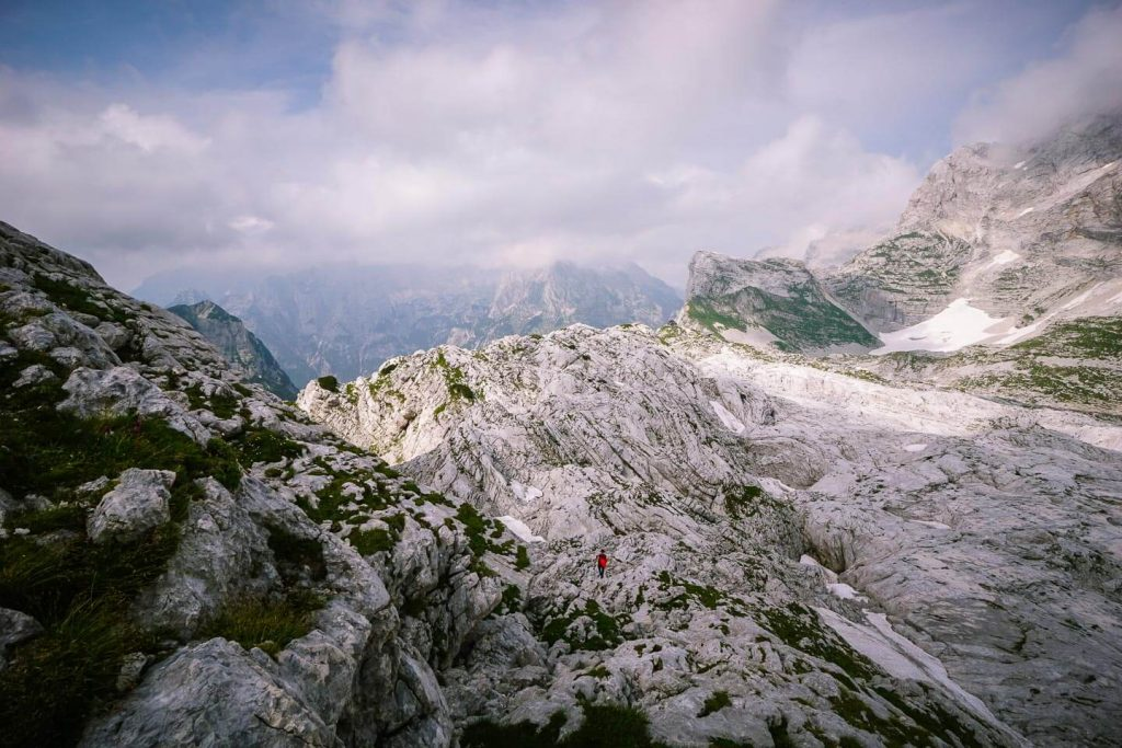 Spicje to asavska koča na Prehodavcih, karst landscape, Slovenia
